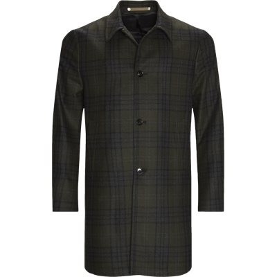 Checked Wool Coat Regular fit | Checked Wool Coat | Grøn